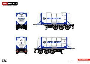 Geelhoed; CONTAINER TRAILER | 20 FT TANK CONTAINER – 3 AXLE – WSI – 01-3348 – 1:50