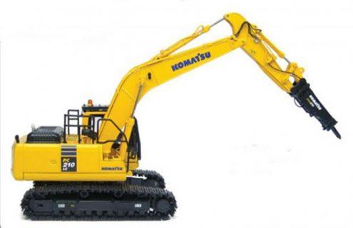 KOMATSU Excavator PC210LC-10 with Hammer – UNIVERSAL HOBBIES – U8096 – 1:50