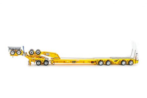 Yellow; DRAKE 2X8 DOLLY AND 4X8 TRAILER – DRAKE – ZT09179 – 1:50