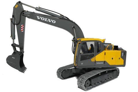 *Preordine* Volvo EC160E – Hydraulic RC Excavator – full metal – Double e Hobby – 1:14