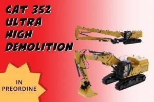*Preordine Giugno '21* Caterpillar 352 Ultra High Demolition – Escavatore DEMOLITORE – DIECAST MASTER – 85663 – 1:50