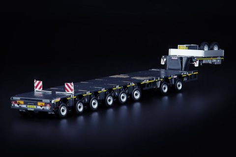 Grey Series Nooteboom MCO-PX Semi Low Loader 6 axle with 2 axle Multidolly – IMC – 33-0164 – 1:50