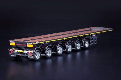 Grey Series Nooteboom OVB 6-assige Ballasttrailer met een 10ft Container – WSI – 33-0162 – 1:50