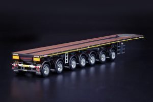 Grey Series Nooteboom OVB Ballasttrailer 7 axle with 10ft Container – IMC – 33-0163 – 1:50