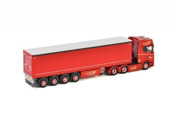 Jesper Christensen; SCANIA S HIGHLINE | CS20H 6X2 TAG AXLE CURTAINSIDE / TAUTLINER TRAILER - 4 AXLE - WSI - 01-3146 - 1:50