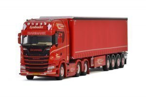 Jesper Christensen; SCANIA S HIGHLINE | CS20H 6X2 TAG AXLE CURTAINSIDE / TAUTLINER TRAILER – 4 AXLE – WSI – 01-3146 – 1:50