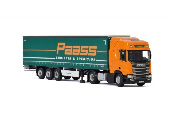 Paass Spedition GmbH; SCANIA R HIGHLINE | CR20H 4X2 CURTAINSIDE TRAILER - 3 AXLE - 01-3227