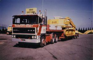 * PREORDINE – Q2-2021 * – Transports Brame P; DAF 3300 6X4 FLAT BED TRAILER | CLASSIC – 3 AXLE – WSI – 01-3367 – 1:50