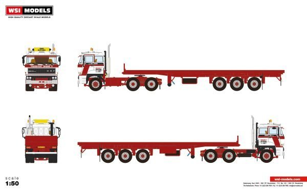 Transports Brame P; DAF 3300 6X4 FLAT BED TRAILER | CLASSIC - 3 AXLE - 01-3367