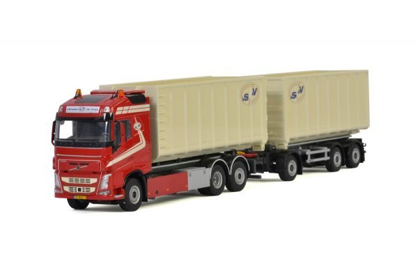 Van Straalen de Vries; VOLVO FH 4 GLOBETROTTER 6X2 TAG AXLE RIGED | COMBI | HOOKLIFT SYSTEM - 6 AXLE