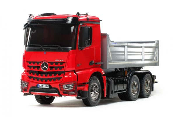 RC Mercedes Benz Arocs 3348 6x4 Tipper Verniciato Red/Silver - TAMIYA - 56361 - 1:14