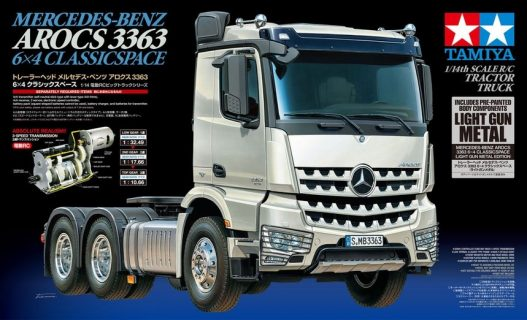 RC Mercedes-Benz Arocs 3363 6×4 Classic Space Light Gun Metal – TAMIYA – 56359 – 1:14