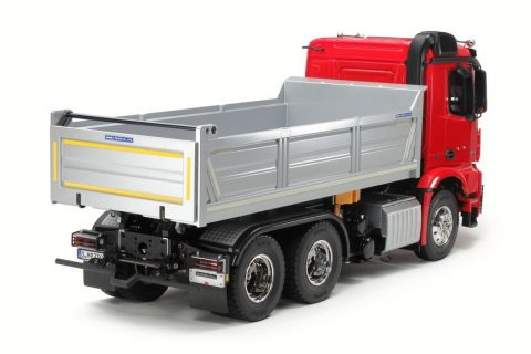 RC Mercedes Benz Arocs 3348 6×4 Tipper Verniciato Red/Silver – TAMIYA – 56361 – 1:14