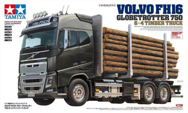 RC Volvo FH16 Globetrotter 750 6x4 Timber Truck - TAMIYA - 56360 - 1:14