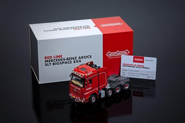 Nooteboom Redline Mercedes-Benz Arocs SLT BigSpace 8x4 - IMC - 572.23.93 - 31-0177 - 1:50