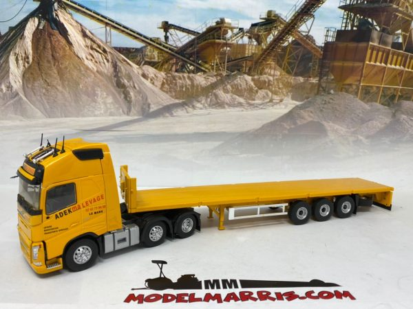 VOLVO - FH4 540 TRUCK 3-ASSI WITH LOW LOADER TRAILER ADEKMA LEVAGE 2016 - ELIGOR - 116971 - 1:43