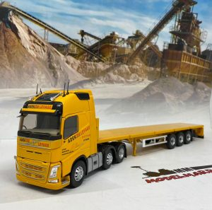 VOLVO – FH4 540 TRUCK 3-ASSI WITH LOW LOADER TRAILER ADEKMA LEVAGE 2016 – ELIGOR – 116971 – 1:43
