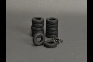 Silicone rubber Tires 12 pieces for LTM 1350 – YCC – YC560-3 – 1:50