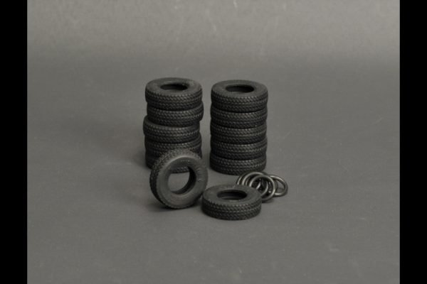 Silicone rubber Tires 12 pieces for LTM 1350 - YCC - YC560-3 - 1:50