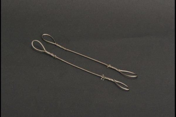 Wire rope set / 2 piece 1.0 mm x 12 cm