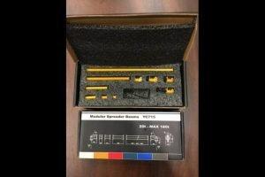 Modular Spreader Beams 20t – MAX 180t RAL 1007 Yellow – YCC – YC715-1 – 1:50