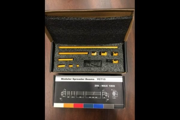 Modular Spreader Beams 20t - MAX 180t RAL 1007 Yellow - YCC - YC715-1 - 1:50