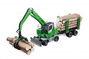 SENNEBOGEN 735 MHD – con pinza per tronchi e rimorchio – CONRAD –  2958-0