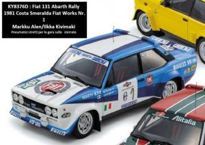 KYOSHO – FIAT – 131 ABARTH TEAM FIAT WORKS N 1 RALLY COSTA SMERALDA 1981 M.ALEN – I.KIVIMAKI