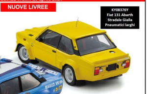KYOSHO – FIAT – 131 ABARTH 1974 – BASE GR.4 – GIALLA – RUOTE LARGHE
