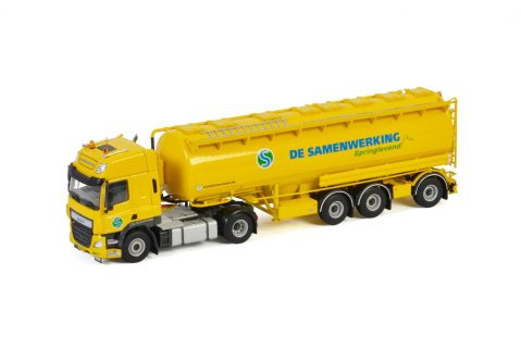 De Samenwerking; DAF CF SPACE CAB 4X2 BULK TRAILER | ANIMAL FEED – 3 AXLE – WSI – 01-3315 – 1:50