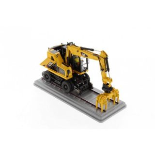 Caterpillar M323F escavatore gommato ferroviario – Safety yellow – Diecast Masters – 85661 – 1:50