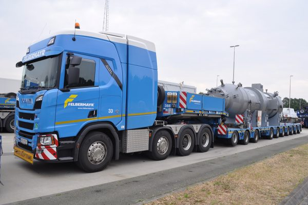 * PREORDINE - Q4-2021 * - Felbermayr; SCANIA R HIGHLINE   CR20H 8X4 BROSHUIS SL 100 TONNER 3+7 AXLE (Without Load) - WSI - 01-3555 - 1:50