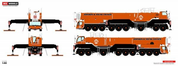 * PREORDINE - Q3-2021 * - Johnson & Young Cranes; LIEBHERR LTM 1750 - WSI - 51-2085 - 1:50