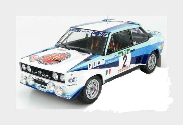 FIAT - 131 ABARTH TEAM FIAT WORKS (night version) N 2 2nd RALLY PORTUGAL 1980 M.ALEN - I.KIVIMAKI - IXO-MODELS - 1:18