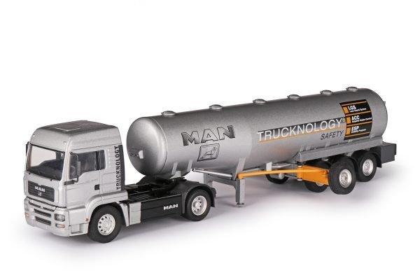 Semirimorchio cisterna MAN TGA con semirimorchio cisterna di sicurezza - CONRAD - 66147-0 - 1:50