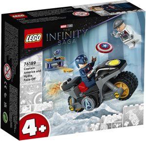 LEGO 76189 Super Heroes Marvel The Infinity Saga – Scontro tra Captain America e Hydra