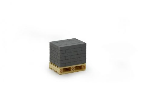 Pallet with grey bricks 22 x 16 x 20 mm – TEKNO – 81132 – 1-50