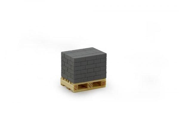 Pallet with grey bricks 22 x 16 x 20 mm - TEKNO - 81132 - 1-50