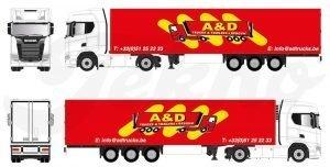 A&D Truck & Trailers – TEKNO – 82459 – 1:50