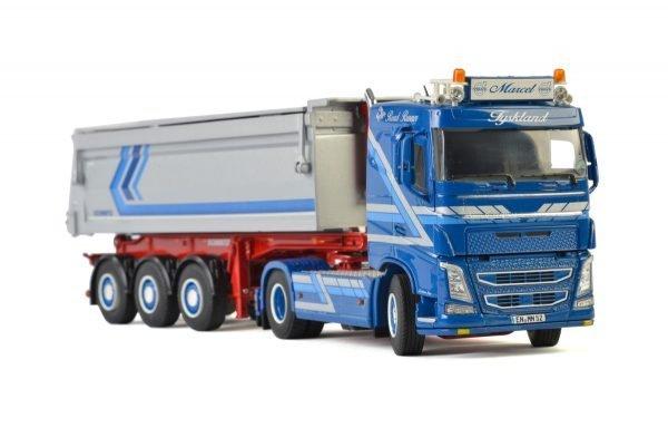 Augst Baustoffe; VOLVO FH4 SLEEPER CAB 4x2 TIPPER TRAILER - 3 AXLE - WSI - 01-2275 - 1:50