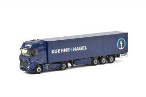 Kuehne + Nagel; MERCEDES-BENZ ACTROS MP4 GIGA SPACE 4×2 BOX TRAILER – 3 AXLE – WSI – 01-2150 – 1:50