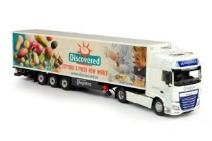 ABC Logistics – Discovered DAF XF Euro 6 Super Space Cab with reefer semitrailer – TEKNO – 69635 – 1:50