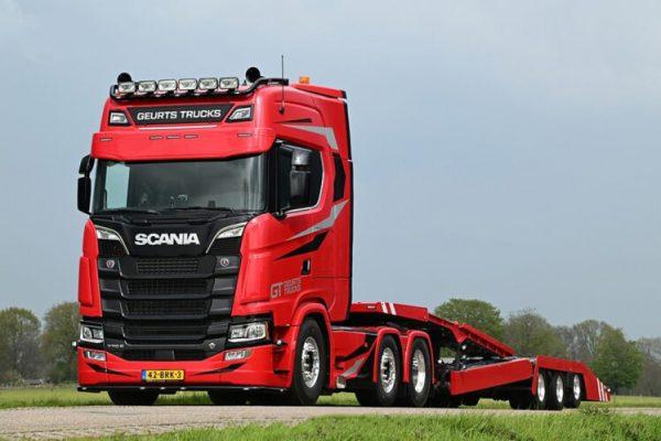 Camion Geurts; SCANIA S HIGHLINE 6X2 - TRASPORTO AUTOCARRO - 3 ASSI