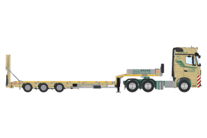 H.N. Krane Mercedes Benz Actros GigaSpace 6×4 with Nooteboom MCOS Semi Low Loader 4 axle – IMC – 32-0124 – 1:50