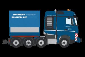 Hegmann Mercedes Benz Arocs BigSpace SLT 8×4 with ballast box – IMC – 32-0139 – 1:50