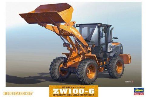 HASEGAWA – HITACHI FIAT – ZW100-6 RUSPA GOMMATA TRACTOR – SCRAPER – 66004 – 1:35