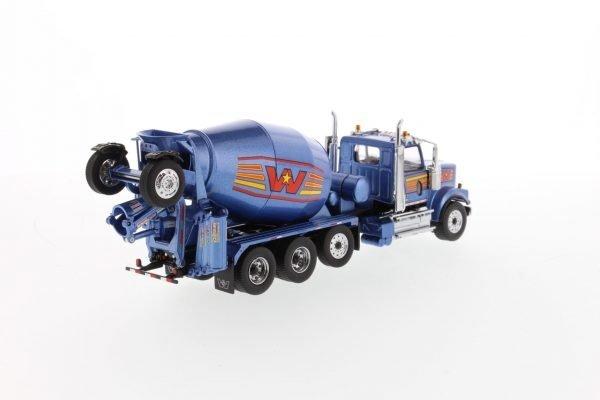 Western Star 4900 with McNeilus BridgeMaster Mixer – Metallic blue - DIECAST MASTERS - 71075 - 1:50