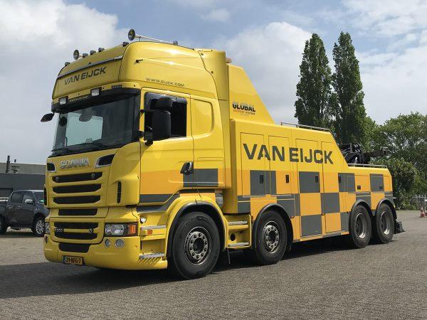 Van Eijck; SCANIA R6 TOPLINE 8X4 FALKOM - WSI - 01-3524 - 1:50