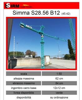 Simma S28.56 B12 (45.42) Gru a torre – 1/50 – SIRM scale MODEL