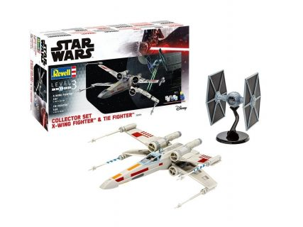 Revell Star Wars Collector Set X-Wing Fighter + TIE Fighter – 06054 – 1:65